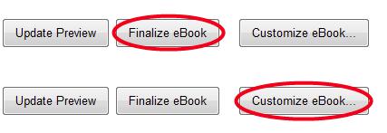 Customize Ebook button